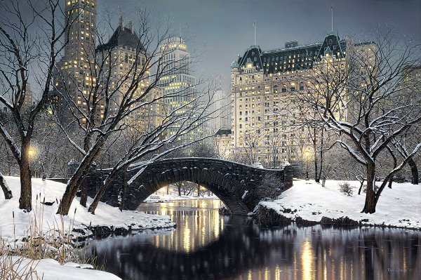 twilight in central park by rod chase full image 5422